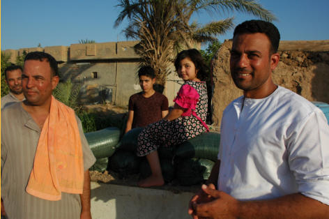 The three brothers I spoke with about the battle at their home against ISIS and two of their children