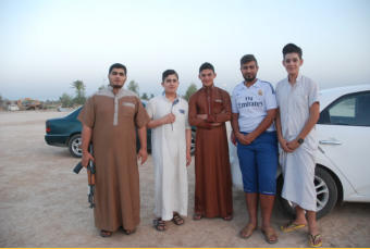 Young men who fought to save Dholoyia from ISIS.