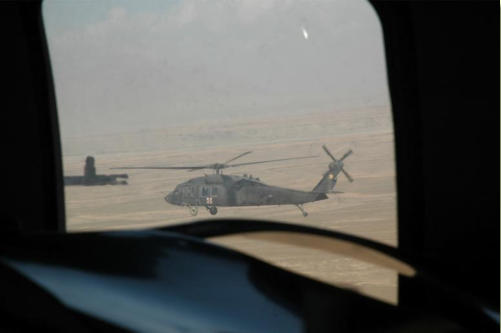 A New Mexico National Guard Blackhawk helicopter