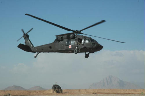 Medevac helicopter from New Mexico National Guard