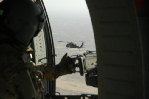 im Spiri, SPIRI FREELANCE, flying over Helmand province looking at a NM National Guard helicopter