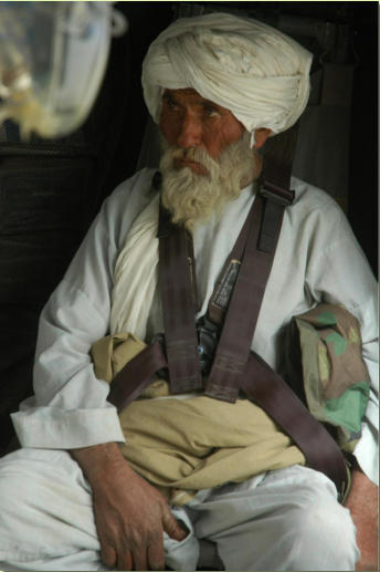 Father of injured little Afghan girl.