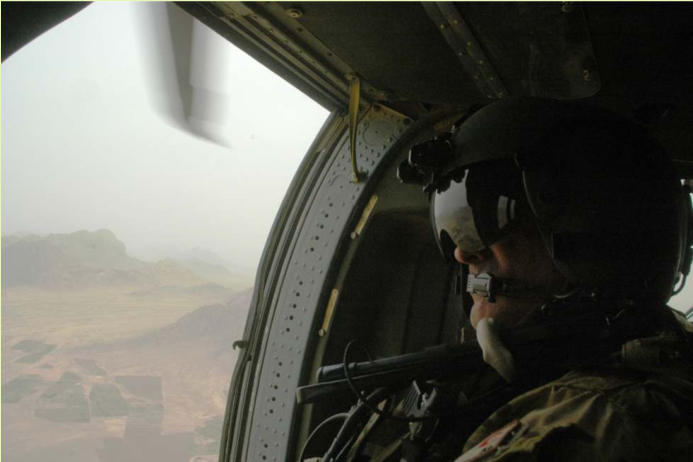 Sgt Petty on the way back to the FOB after the mission is done